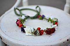 Ozdoby do vlasov - Letný kvetinový venček - 9702533_