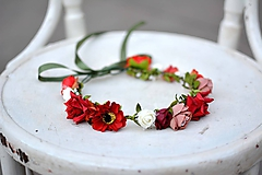 Ozdoby do vlasov - Letný kvetinový venček - 9702542_