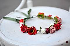 Ozdoby do vlasov - Letný kvetinový venček - 9702543_