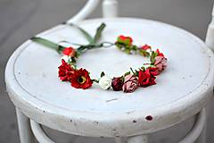 Ozdoby do vlasov - Letný kvetinový venček - 9702545_