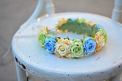 Ozdoby do vlasov - Venček z ruži - 9702561_