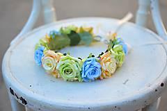 Ozdoby do vlasov - Venček z ruži - 9702562_