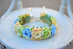 Ozdoby do vlasov - Venček z ruži - 9702563_