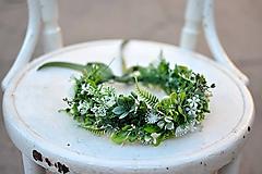 Ozdoby do vlasov - Bohatý greenery venček - 9702660_