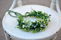 Ozdoby do vlasov - Bohatý greenery venček - 9702662_
