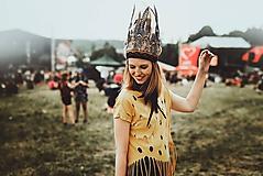 Ozdoby do vlasov - Prírodná bohémska čelenka z peria - 9702791_