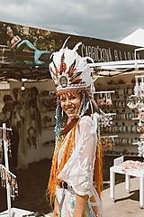 Ozdoby do vlasov - Mexická festivalová čelenka - 9702848_