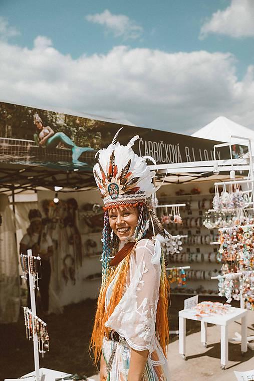 Mexická festivalová čelenka