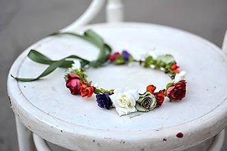 Ozdoby do vlasov - Letný kvetinový venček - 9702530_