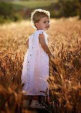 Detské oblečenie - Ľanové šatôčky Liliana - 9703166_