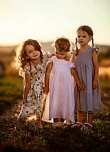 Detské oblečenie - Ľanové šatôčky Liliana - 9703167_