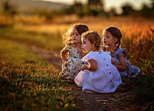 Detské oblečenie - Ľanové šatôčky Liliana - 9703170_