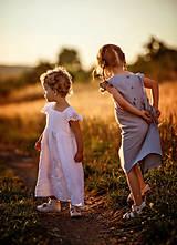 Detské oblečenie - Ľanové šatôčky Liliana - 9703171_