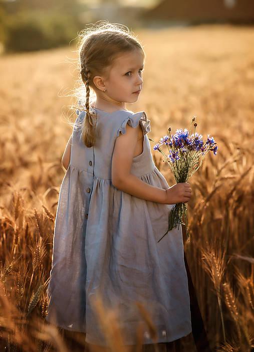Detské oblečenie - Ľanové šatôčky Amélia - 9703190_