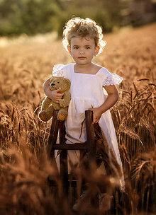 Detské oblečenie - Ľanové šatôčky Liliana (98 - Tyrkysová) - 9703164_