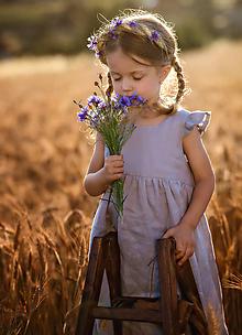 Detské oblečenie - Ľanové šatôčky Amélia - 9703185_