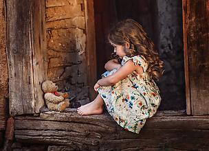 Detské oblečenie - Ľanové šatôčky Melisa - 9703216_