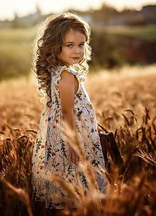 Detské oblečenie - Ľanové šatôčky Melisa - 9703229_