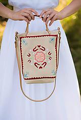 Veľké tašky - Vyšívaná taška Kvetna - 9706443_