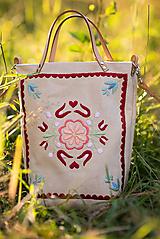 Veľké tašky - Vyšívaná taška Kvetna - 9706445_