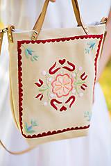 Veľké tašky - Vyšívaná taška Kvetna - 9706470_