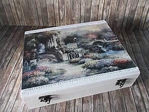 Krabičky - Drevená krabička - 9705052_