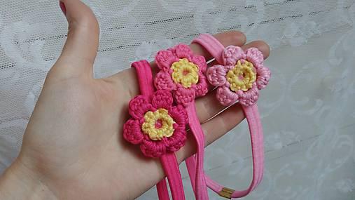 Kvety ružové...čelenka   kiflike - SAShE.sk - Handmade Detské doplnky 36f502c8897
