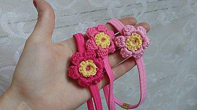 Detské doplnky - Kvety ružové...čelenka - 9705239_