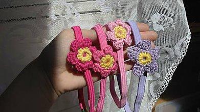 Detské doplnky - Kvety fialkové ...čelenka - 9705259_