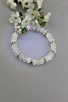 Náramky - Selenit náramok luxusný, ochranný šperk - 9706406_
