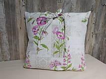 Úžitkový textil - Obliečka na vankúš - kvietky - 9706090_