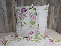 Úžitkový textil - Obliečka na vankúš - kvietky - 9706091_