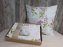 Úžitkový textil - Obliečka na vankúš - kvietky - 9706095_