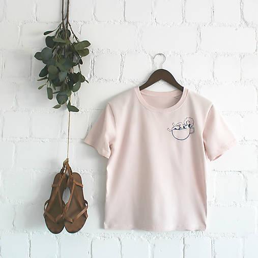 Tričká - Volné dámske tričko_Coffee Time - 9704394_