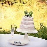 Dekorácie - Svadobné posedenie - figúrky na svadobnú tortu - 9706531_