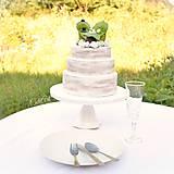 Dekorácie - Svadobné posedenie - figúrky na svadobnú tortu - 9706532_