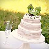 Dekorácie - Svadobné posedenie - figúrky na svadobnú tortu - 9706533_