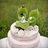 Dekorácie - Svadobné posedenie - figúrky na svadobnú tortu - 9706534_
