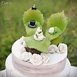 Dekorácie - Svadobné posedenie - figúrky na svadobnú tortu - 9706535_