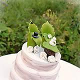 Dekorácie - Svadobné posedenie - figúrky na svadobnú tortu - 9706537_
