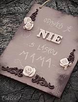 """Tabuľky - Náladová tabuľka """"Mama"""" - jednostranná - 9706672_"""