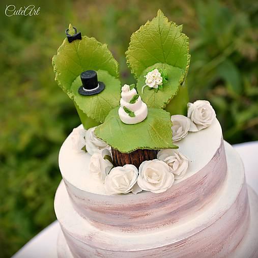 Svadobné posedenie - figúrky na svadobnú tortu