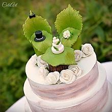 Dekorácie - Svadobné posedenie - figúrky na svadobnú tortu - 9706536_