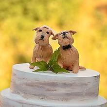 Dekorácie - Jazvečík podľa fotografie - figúrky na svadobnú tortu - 9706579_
