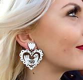 Náušnice - Srdce Vtáčence - 9704260_