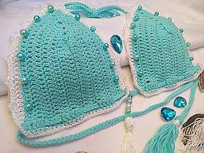 Bielizeň/Plavky - háčkované plavky - z luxusnej priadze TYRKYS - 9704007_
