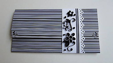 Papiernictvo - Black & white  / obálka na peniaze / - 9704706_