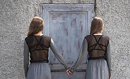 Šaty - TWINS - dlhé šaty - 9704986_