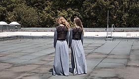 Šaty - TWINS - dlhé šaty - 9704989_