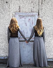 Šaty - TWINS - dlhé šaty (M) - 9704987_